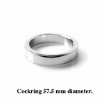 Cockring / Penisring 12 mm hoog, 4 mm dik, 57.5 mm diameter